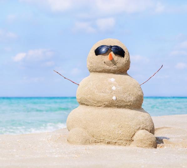 sneeuwpop van zand