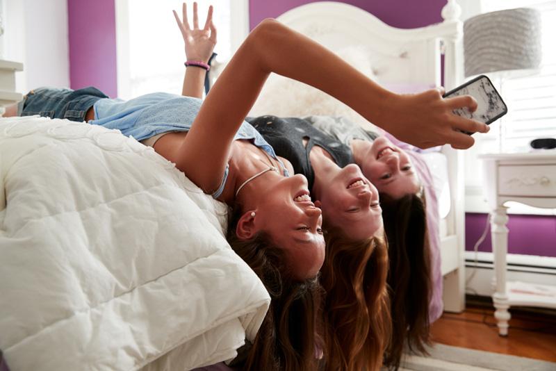 tiener vriendinnen