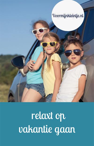 relaxt op vakantie