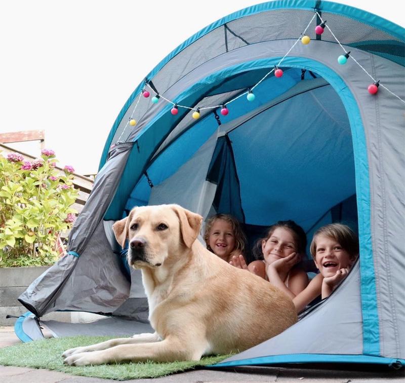 vakantie kamperen thuis