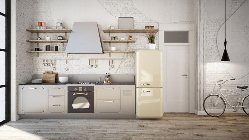landelijke keuken koelkast