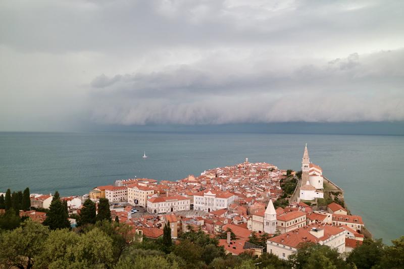 piran slovenie kust