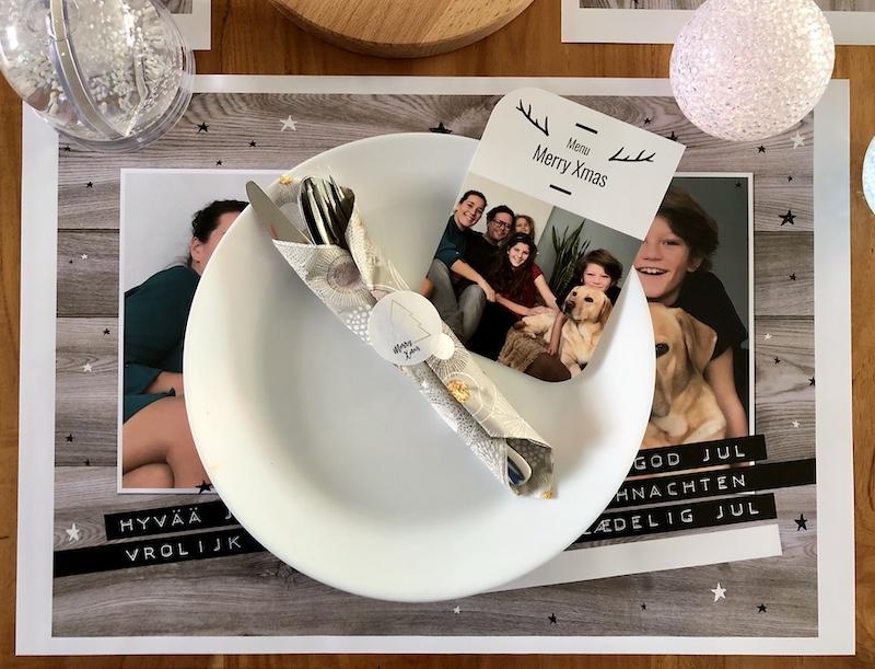 kersttafel dekken gezin
