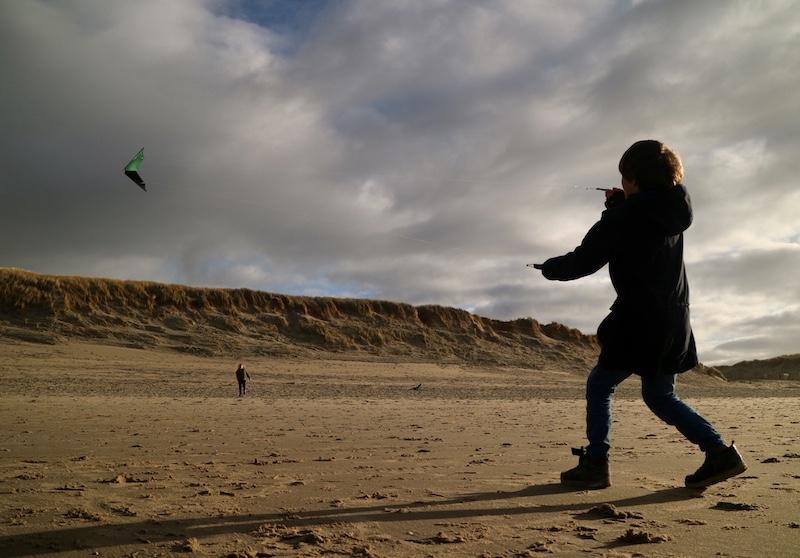 winter vliegeren texel