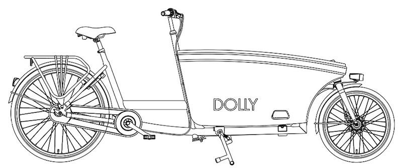 dolly bakfiets kleurplaat