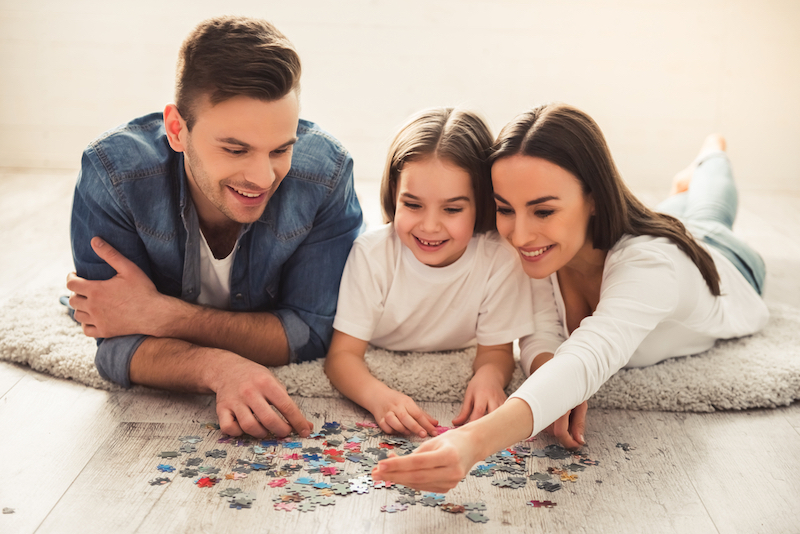 legpuzzel gezin leuk