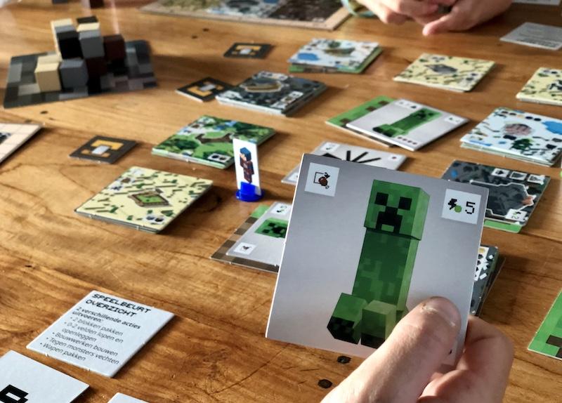 review minecraft bordspel