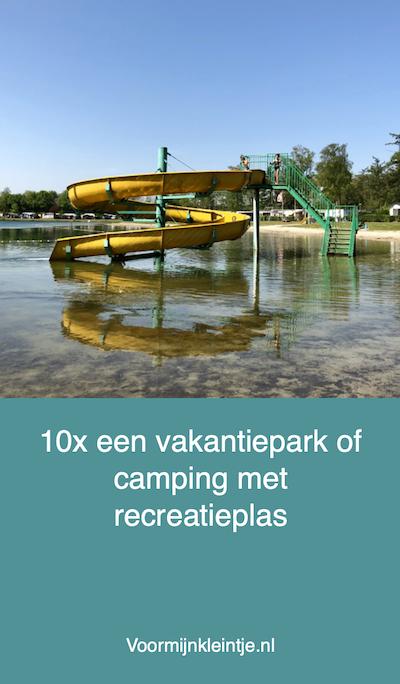 camping of vakantiepark met recreatieplas