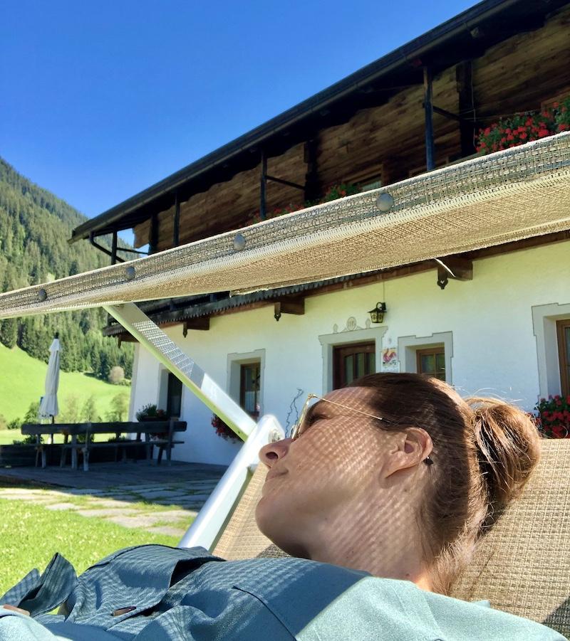 relaxen op vakantieboerderij roter hahn