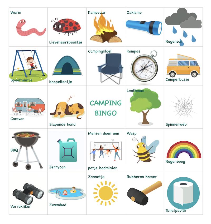 spelletjes camping