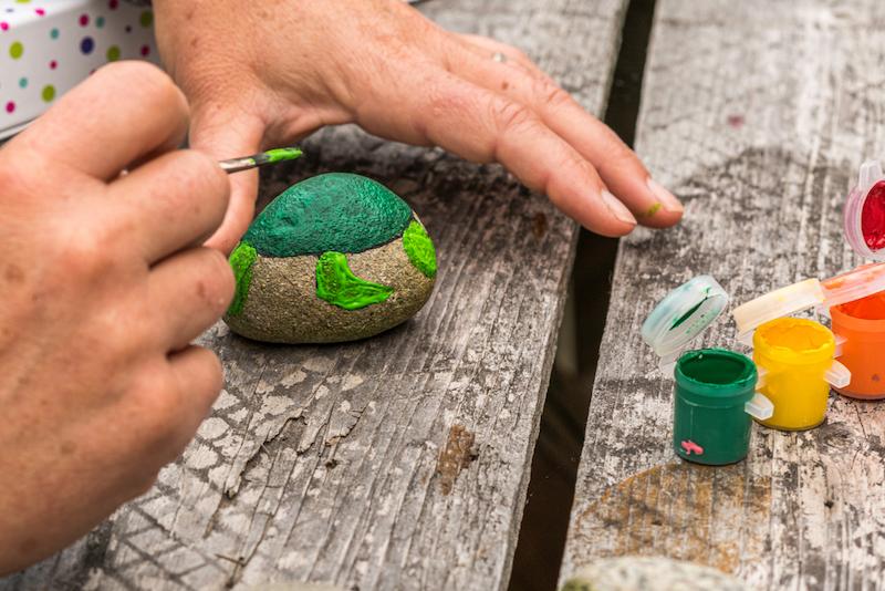 creatief steen camping