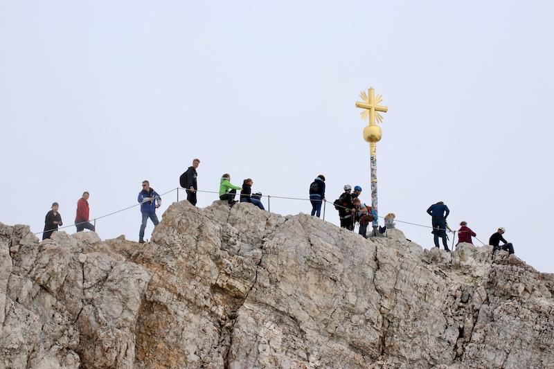 de hoogste top van Zugspitze