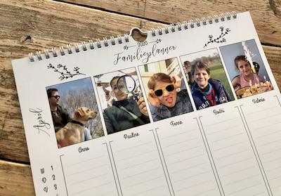 zelf maken kalender gezin