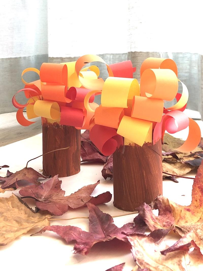 knutselen herfst bomen