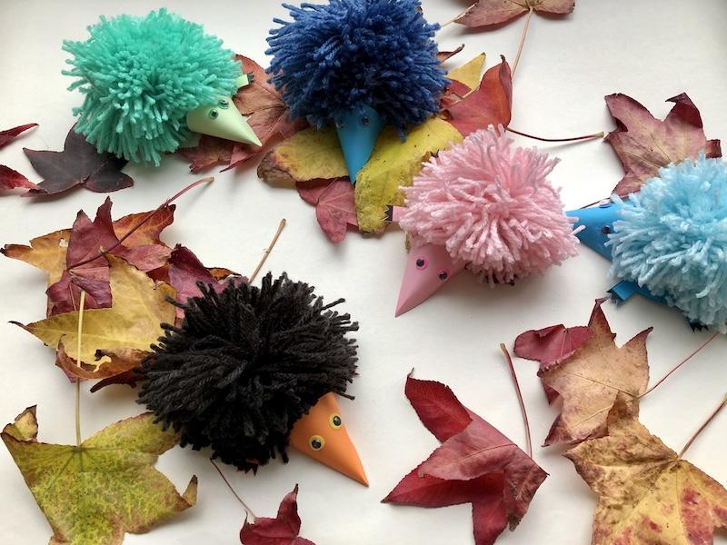 knutselen herfst egel