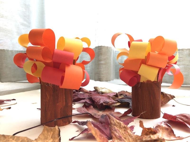 bomen herfst knutsel
