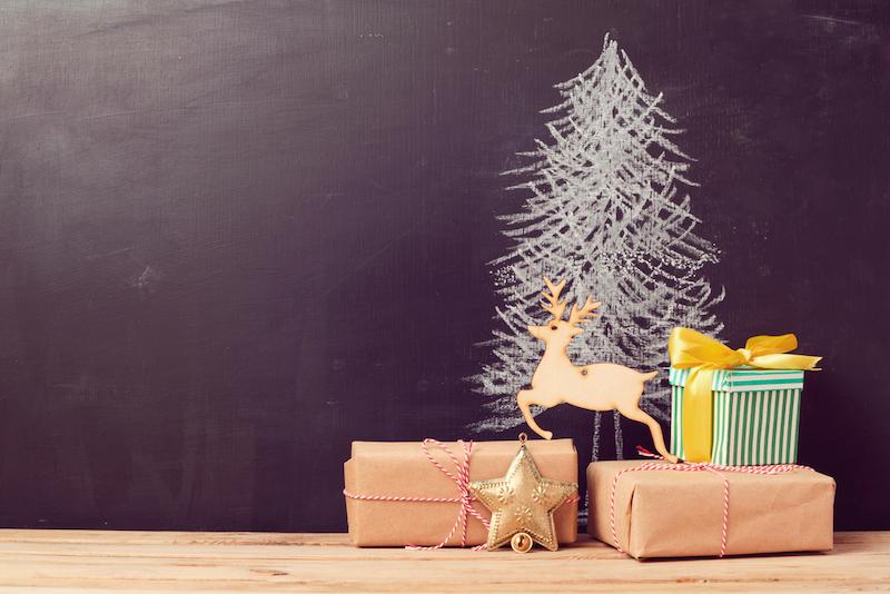 kerstboom van krijt