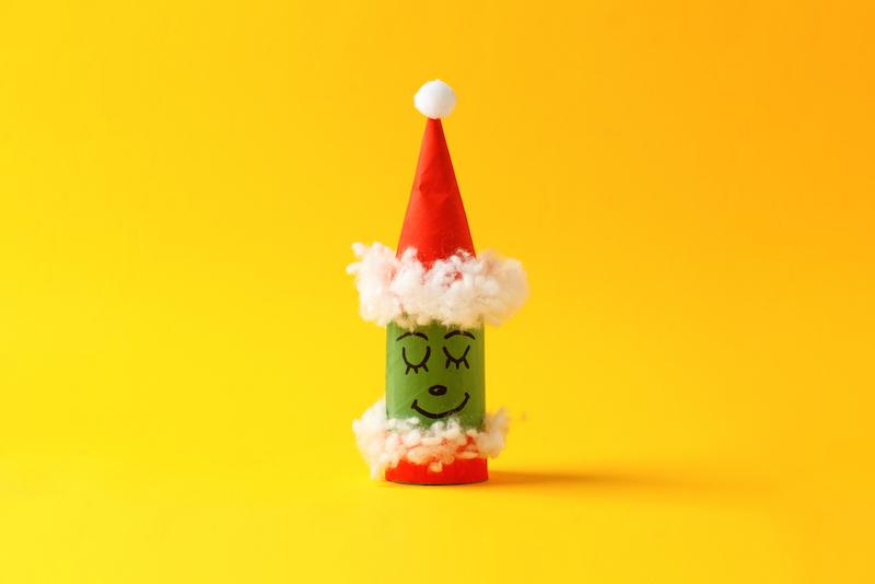 kerst knutselen wc rol