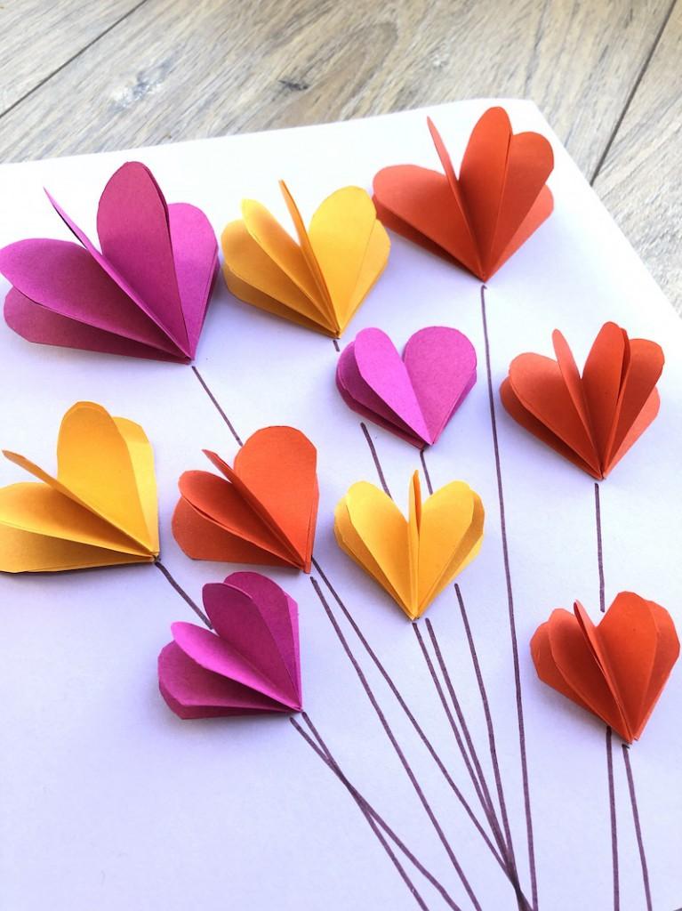 knutselen valentijn hartjes