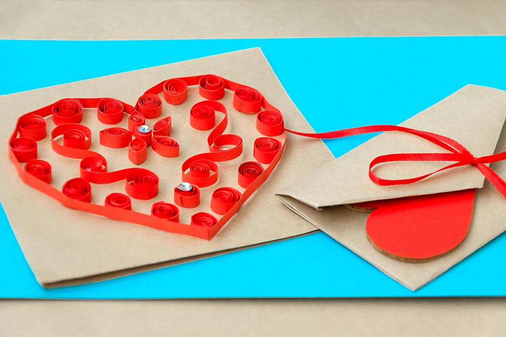 een hart maken van filigraan