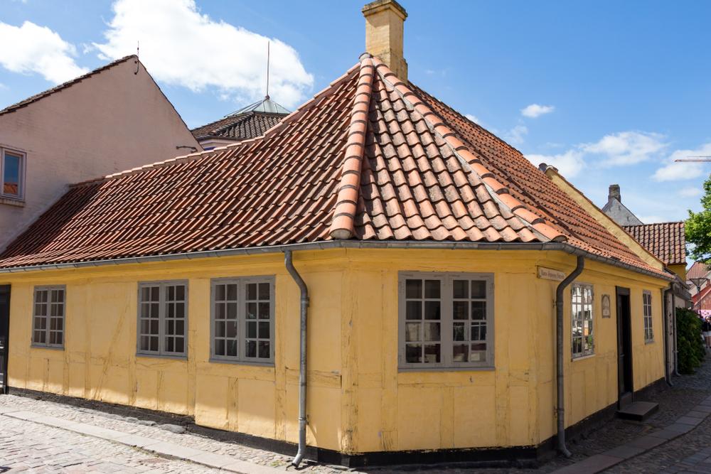 Het huis waar Hans Christian Andersen opgroeide.